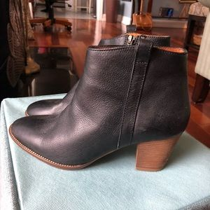 Madewell leather booties EUC size 9